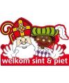 Sint en Piet decoratiebord